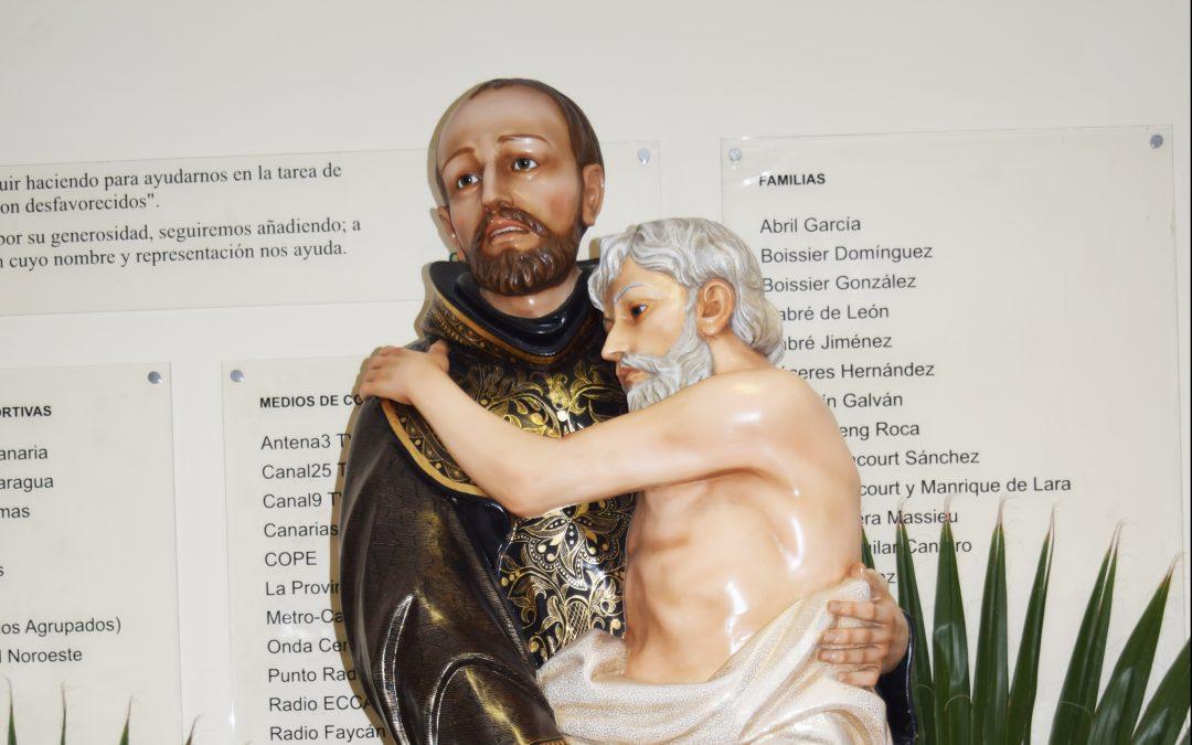 Se Bendice la Imagen de San Juan de Dios en el Centro de Los Hoyos