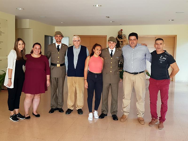 Recibimos la visitas de antiguos alumnos de nuestro Centro de Formación