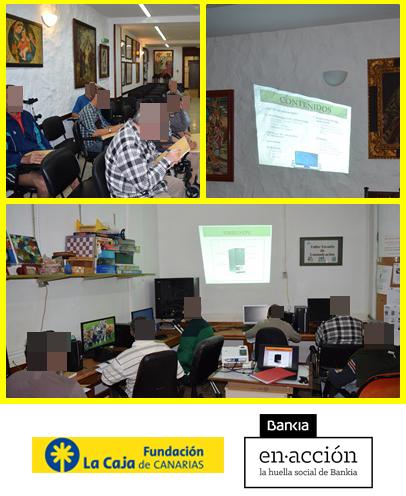 Proyecto Taller de Alfabetización Informática con la colaboración de la Fundación Caja de Canarias y Bankia