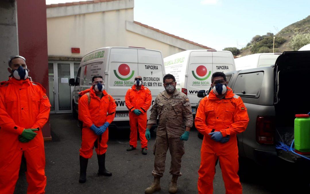 Limpieza de la Unidad de Seguridad de Canarias de Infantería de Marina