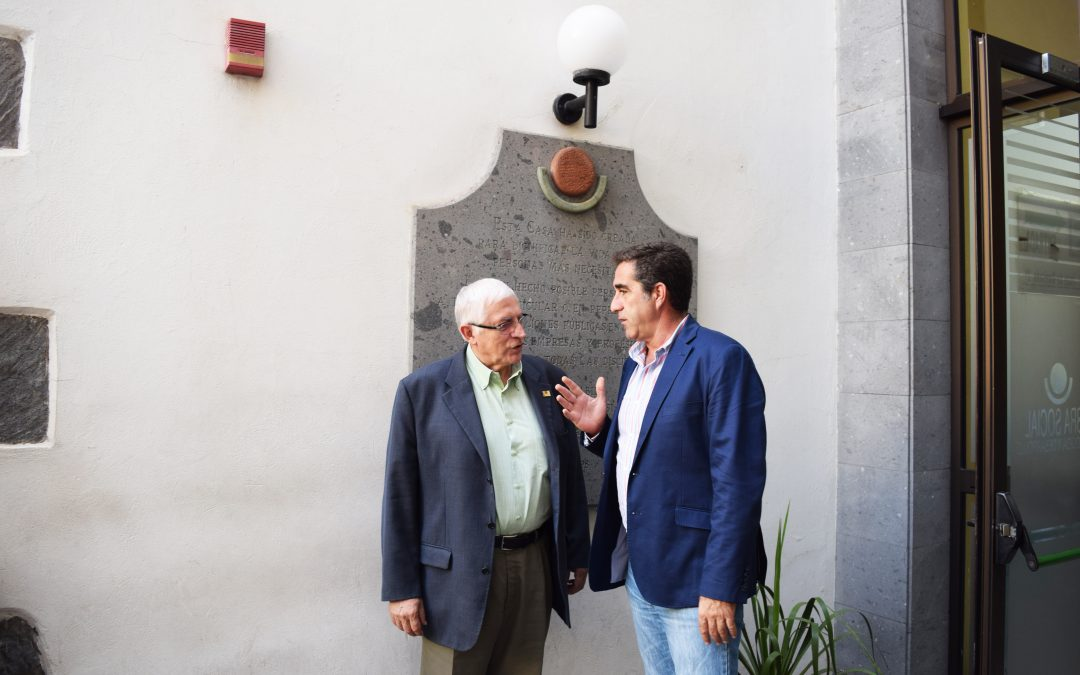 Visita del Viceconsejero de Políticas Sociales del Gobierno de Canarias