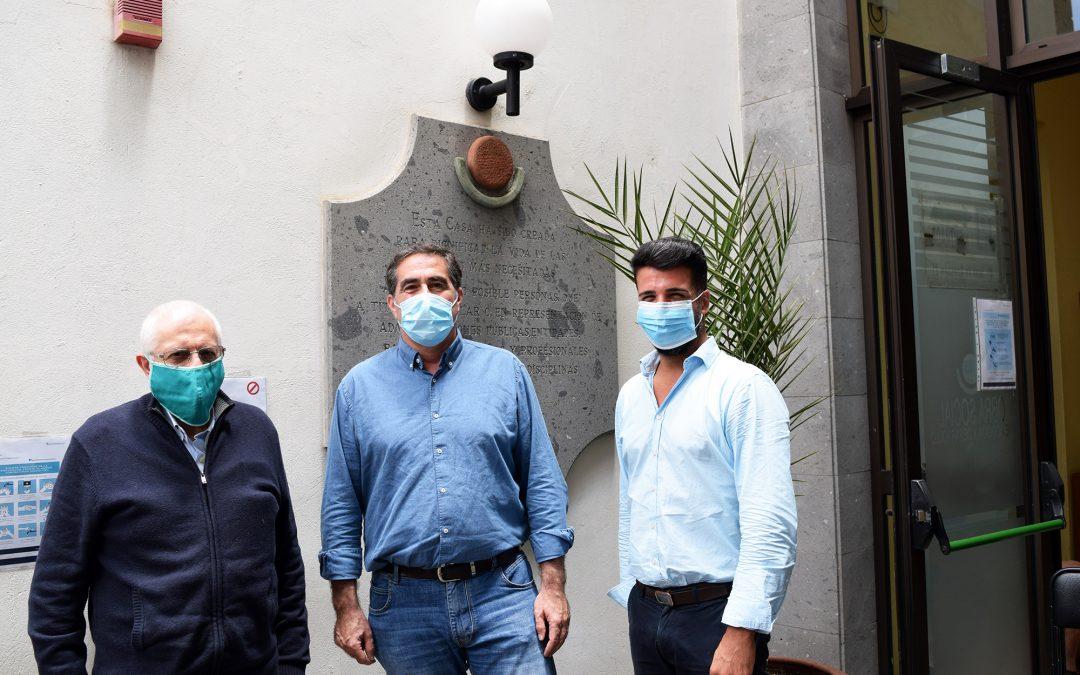 Visita de los Concejales Francisco Candil y David Suárez