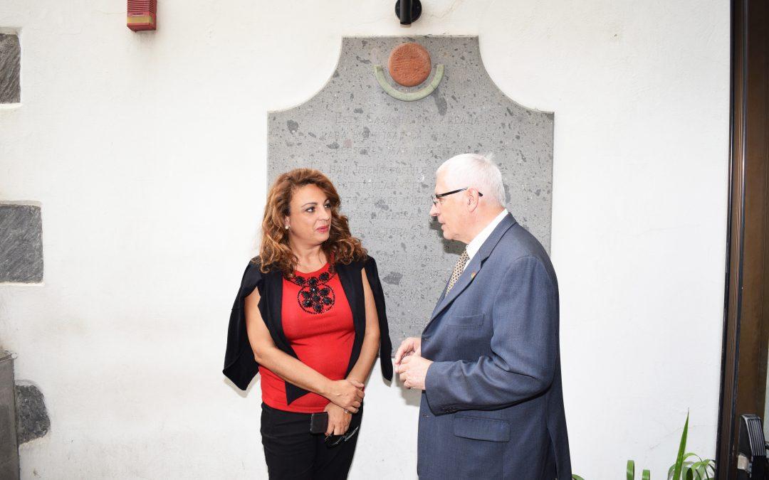 Visita de la Consejera de Políticas Sociales del Gobierno de Canarias