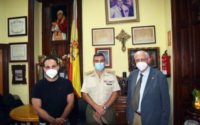Visita del General Jefe de la B.R.I.L. Canarias XVI. Comandante Militar de Las Palmas